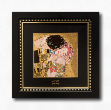 "GOEBEL PORZELLAN Gustav Klimt ""Der Kuss - Wandbild""  – Bild 2"