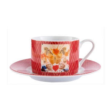 "Salvador Dali ""Butterfly Valentine"" Kaffee-Tasse"
