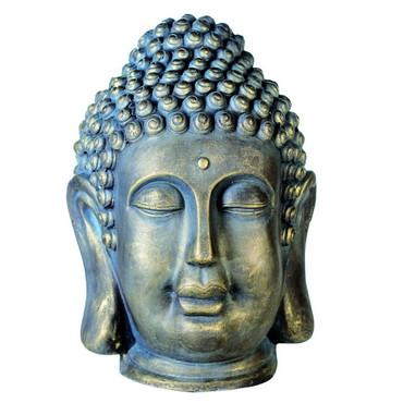 Skulptur Buddhakopf Magnesia 45.00 cm