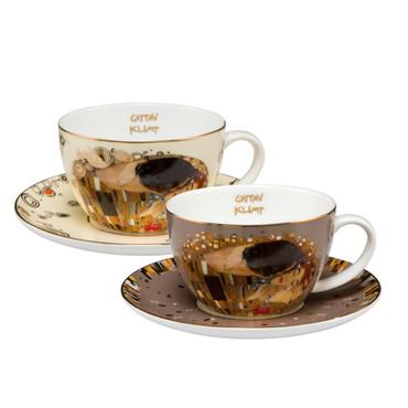 GOEBEL PORZELLAN - Gustav Klimt - Der Kuss - Set Teetassen