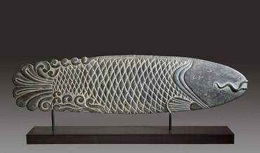 Stilisierter Karpfen Ming-Dynastie ART CHINOIS Skulptur CH06
