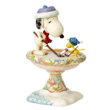 Snoopy & Woodstock Ice Hockey - THE PEANUTS Skulptur 4057675  – Bild 3