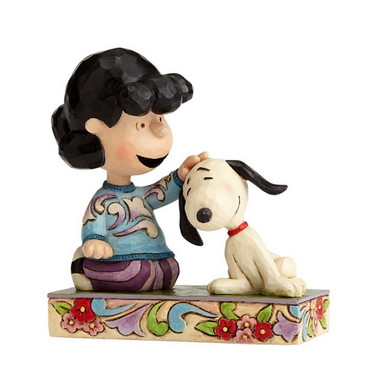 Lucy Petting Snoopy - THE PEANUTS Skulptur 4055660   – Bild 1