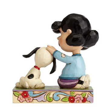 Lucy Petting Snoopy - THE PEANUTS Skulptur 4055660   – Bild 2