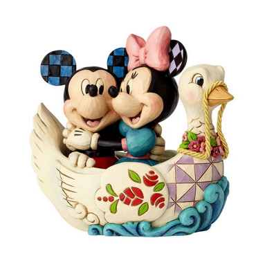 MICKEY & MINNIE IN SWAN Figur Jim Shore – Bild 1