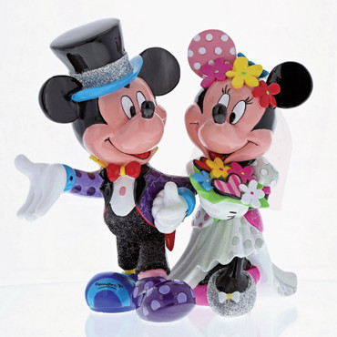 MICKEY & MINNIE WEDDING Skulptur Romero Britto – Bild 1