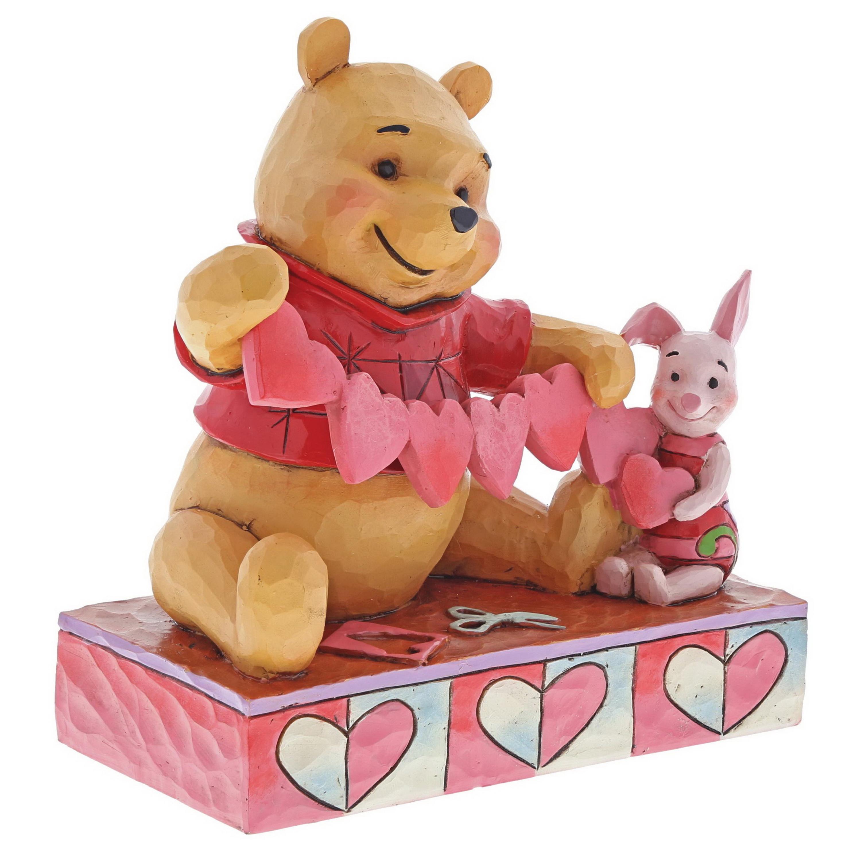 valentine winnie pooh piglet figur jim shore disney disney kollektionen disney traditions. Black Bedroom Furniture Sets. Home Design Ideas