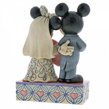 Jim Shore Figur Mickey & Minnie - Two Souls, One Heart – Bild 3