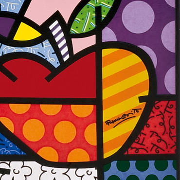BIG APPLE Tischuhr Romero Britto – Bild 3