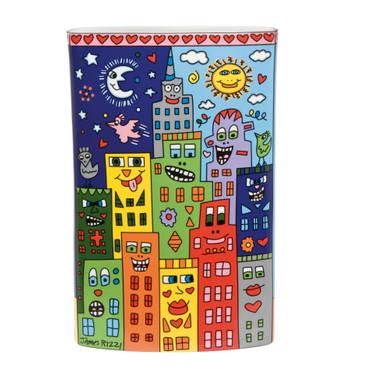 Its Heart Not to Love My City - Vase - James Rizzi NJ Pop Art – Bild 1