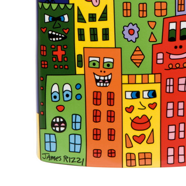 IT'S HEART NOT TO LOVE MY CITY Vase James Rizzi – Bild 2