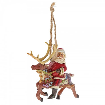 Santa Riding Reindeer JIM SHORE Hanging Ornament 4058816 – Bild 2
