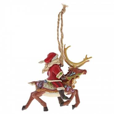 Santa Riding Reindeer JIM SHORE Hanging Ornament 4058816 – Bild 3