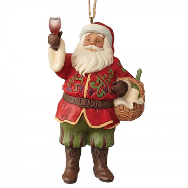Vineyard Santa JIM SHORE Hanging Ornament 6001501