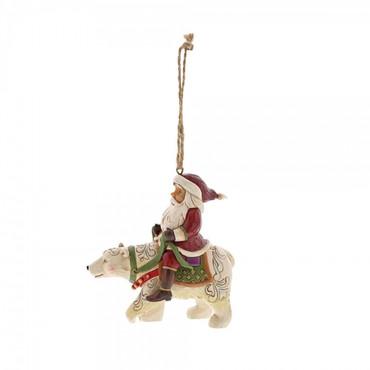 SANTA RIDING POLAR BEAR Hanging Ornament Jim Shore – Bild 2