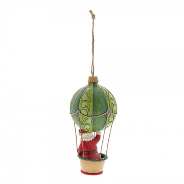 Santa In Hot Air Balloon JIM SHORE Hanging Ornament 6001511 – Bild 2