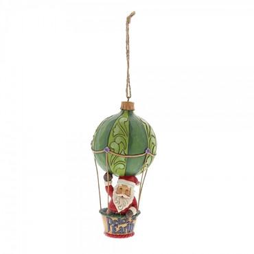 SANTA IN HOT AIR BALLOON Hanging Ornament Jim Shore – Bild 1