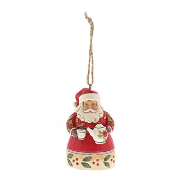 Mini Santa With Teapot JIM SHORE Hanging Ornament 6001519 – Bild 1