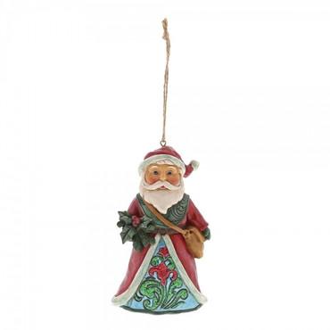 Winter Wonderland Santa Holly JIM SHORE Hanging Ornament 6001424 – Bild 1