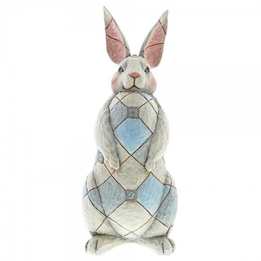 GREY RABBIT GARDEN STATUE Skulptur Jim Shore  – Bild 1