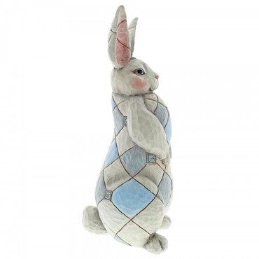 GREY RABBIT GARDEN STATUE Skulptur Jim Shore  – Bild 3