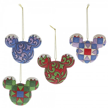 Mickey Mouse Head A29543 Hanging Ornament Set – Bild 1