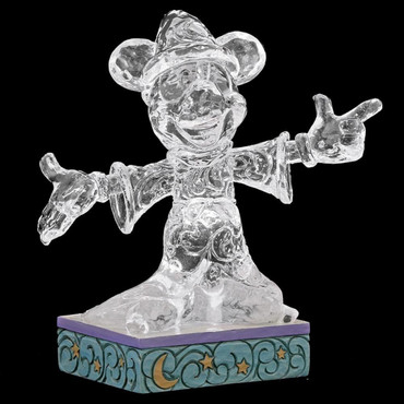 Ice Bright Sorcerer Mickey Mouse JIM SHORE Figur LED 4059926 – Bild 1