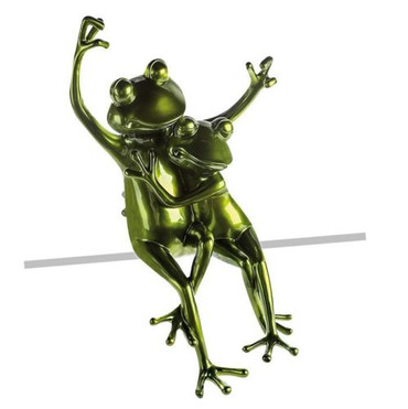 FROGS Statue Kantensitzer DekoArt