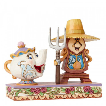 WORKING ROUND THE CLOCK Cogsworth & Mrs.Potts Figur Jim Shore – Bild 3
