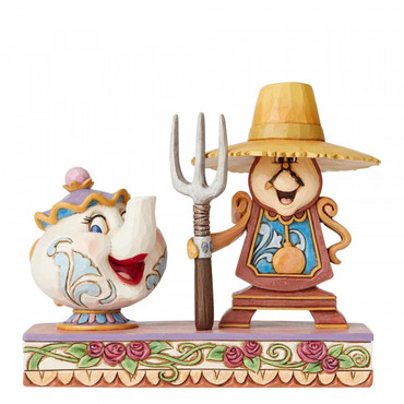 WORKING ROUND THE CLOCK Cogsworth & Mrs.Potts Figur Jim Shore – Bild 1