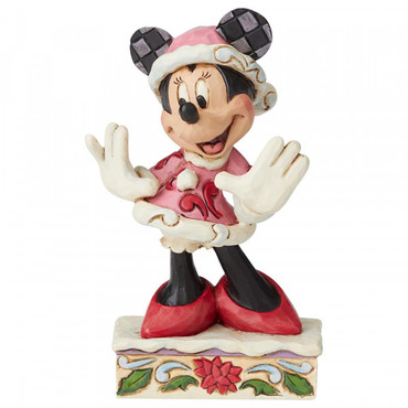 FESTIVE FASHIONISTA Minnie Mouse Figur Jim Shore – Bild 1