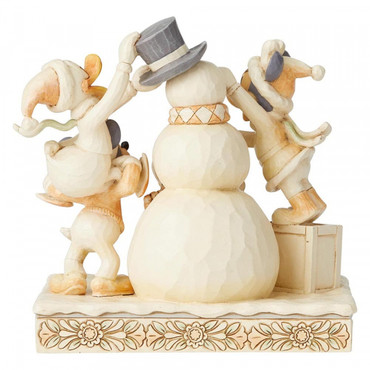 FROSTY FRIENDSHIP Mickey & Friends Skulptur Jim Shore – Bild 2