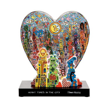 HEART TIMES IN THE CITY Skulptur limitiert James Rizzi – Bild 1