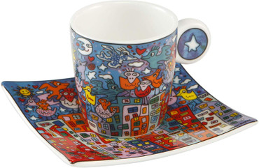 CITY BIRDS Espresso Set James Rizzi