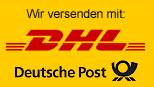 Wir versenden per deutsche Post und DHL
