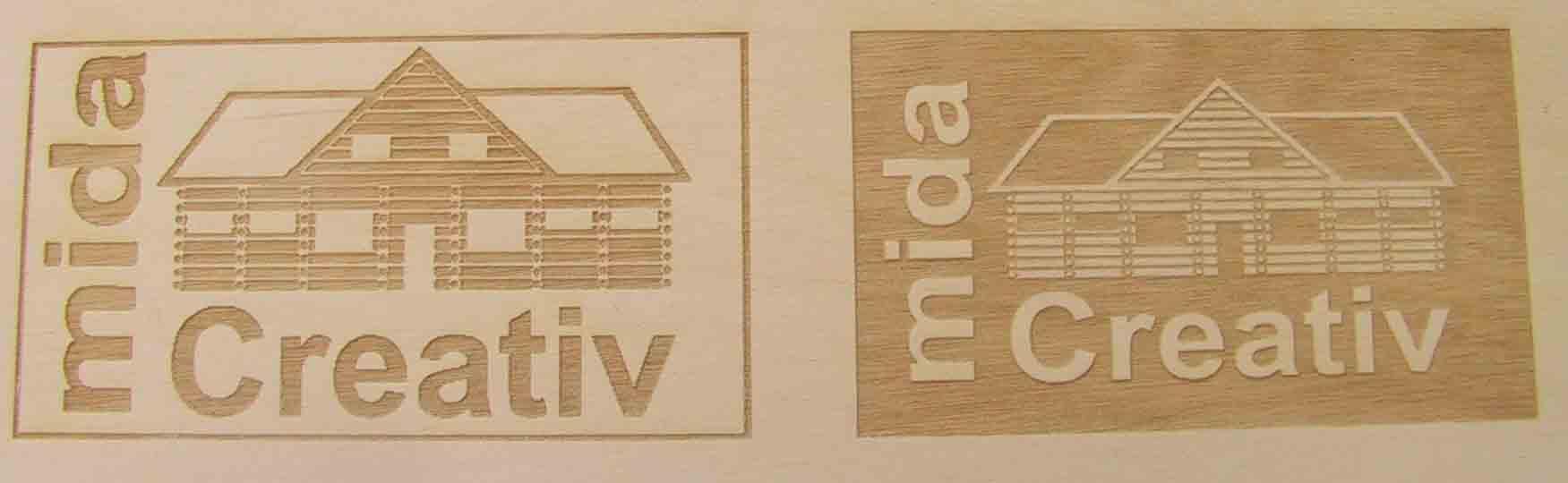 Beispiel Logo-Gravur
