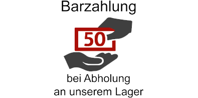 Barzahlung bei Abholung am Lager