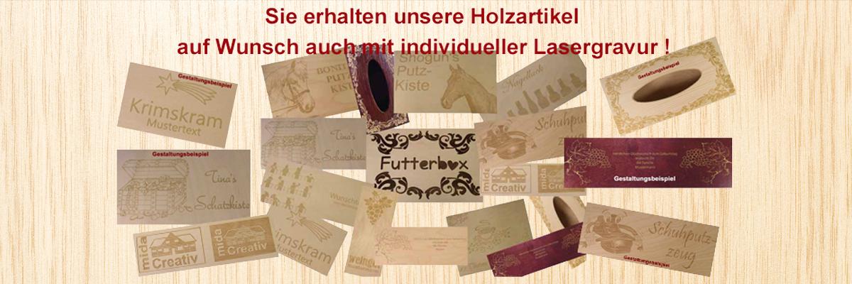 Holzartikel mit individueller Lasergravur - so funktioniert´s