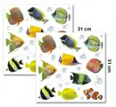 Dekorfolien/ Wandtattoo/ Wandsticker -Fische-  2 Bl. 31 x 31 cm