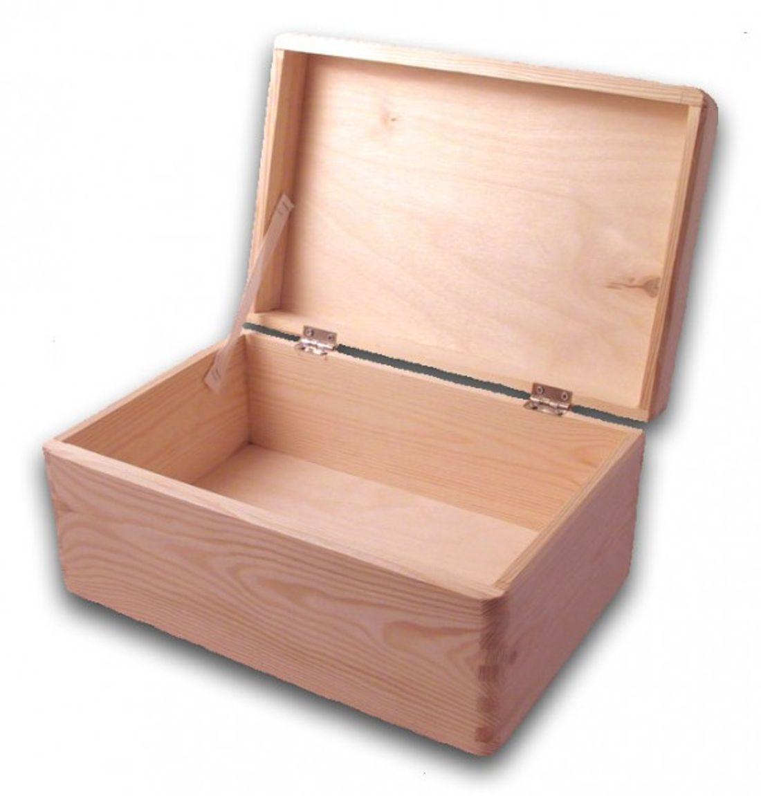 Bevorzugt große Aufbewahrungsbox/ Holzkiste mit Deckel Kiefer unbehandelt TK12