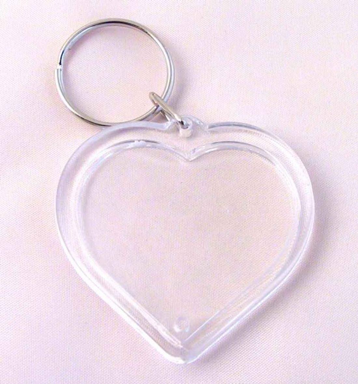 Schlüsselanhänger Herz, zum selbst Befüllen, f. Fotos u. mehr 5 x 5 cm