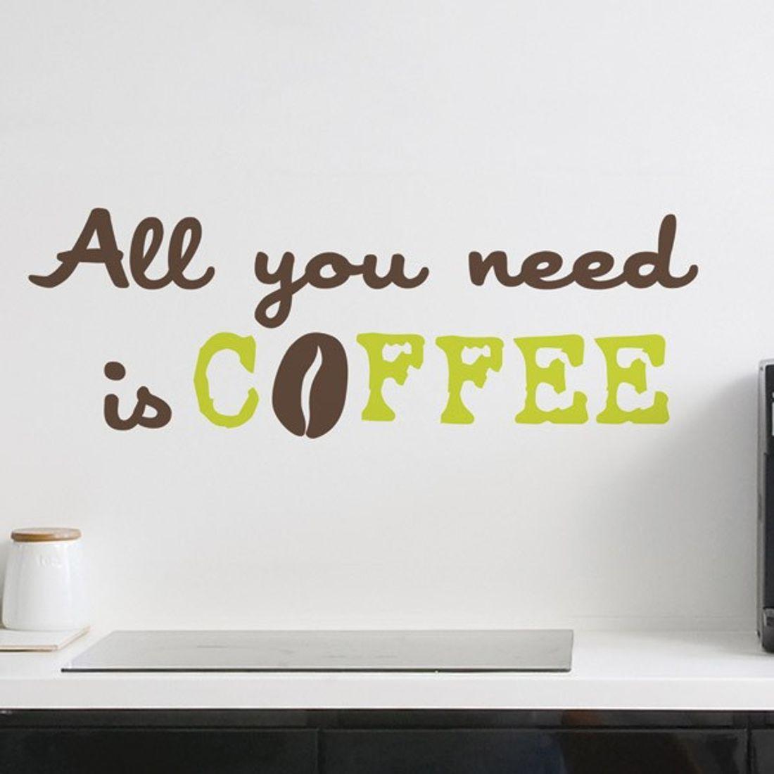 Dekorfolien/ Wandtattoo/ Wandsticker Words Up COFFEE 2 Bl. 31 x 31 cm