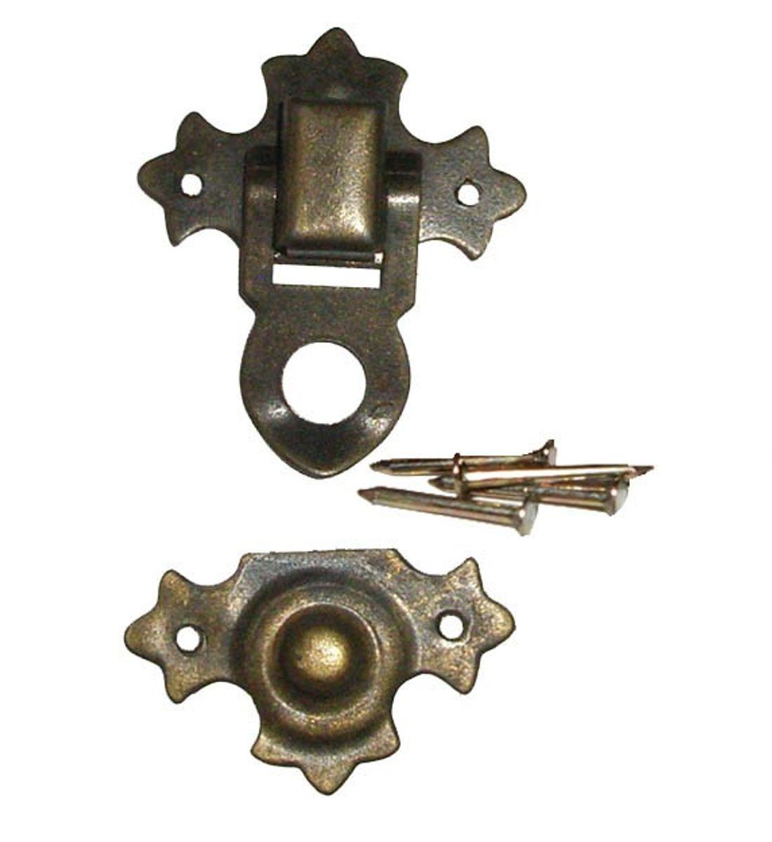 Metall-Verschluß Nr. 4  zum selbst anbringen, incl. Nägel