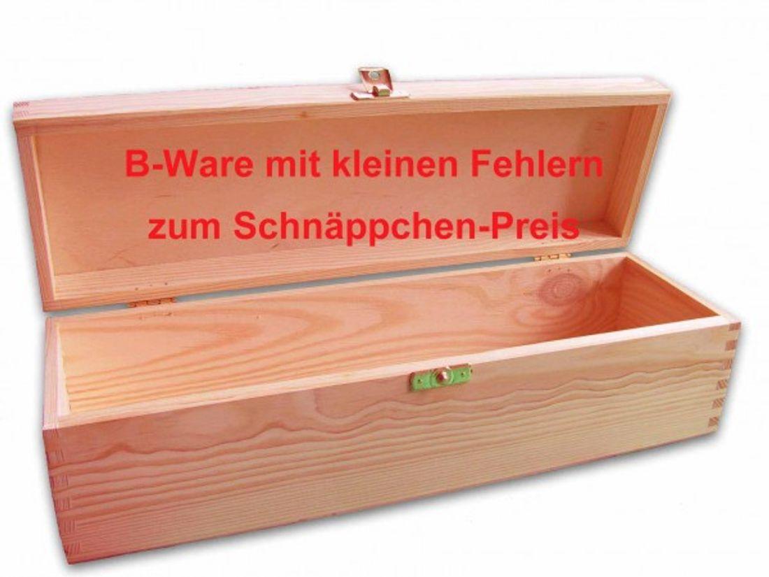 B-Ware, Weinkiste, Weinbox für eine Flasche, Geschenkbox Holzkiste, Holz unbeh.