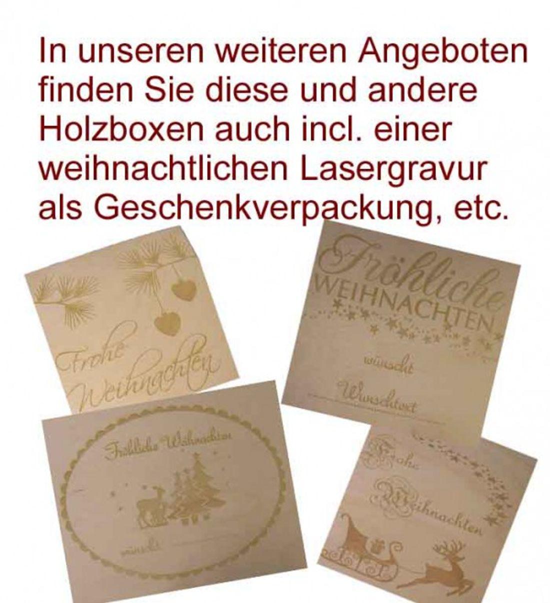 quadratische Holzbox Linde unbehandelt Holz-Schachtel CD-Holzbox