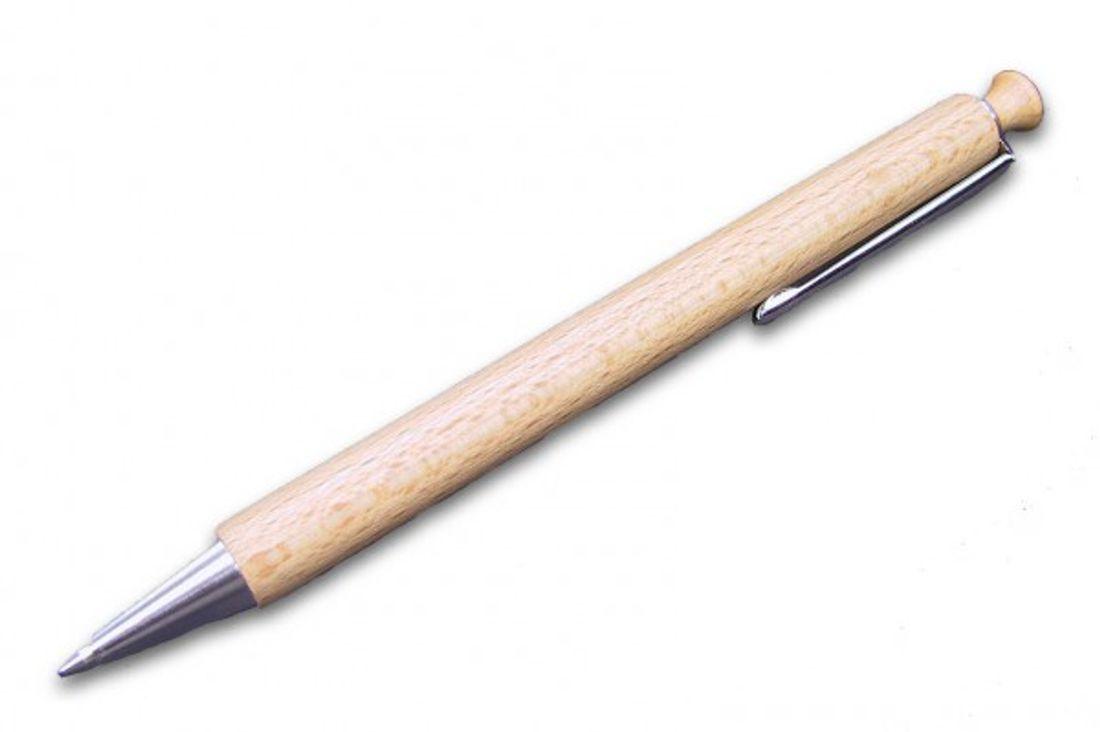 Holz-Etui f/ür 2 Stifte MidaCreativ ovale Stiftebox Stifte-Etui Buche massiv unbehandelt