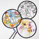 Faltbare Nylon Wurfscheibe Frisbee Scheibe weiss zum Selbstgestalten, 1 Stück