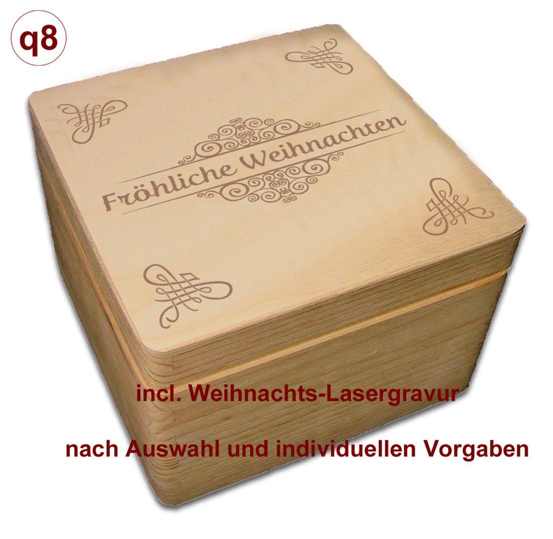 Gr incl Adventskalender Holzbox 3 Kiefer unbeh Auswahl-Lasergravur A7