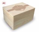 Adventskalender Holzbox, Gr. 3, Kiefer unbeh. incl. Auswahl-Lasergravur (A2) Bild 7
