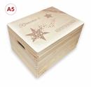 Adventskalender Holzbox, Gr. 3 m. Griffen Kiefer, incl. Auswahl-Lasergravur (A1) Bild 9